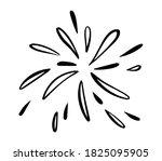 doodle burst splash in vintage... | Shutterstock .eps vector #1825095905