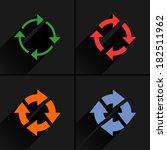 4 arrow icon. set 04. reset ...