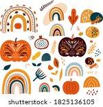 vector collection of halloween... | Shutterstock .eps vector #1825136105
