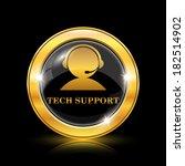 golden shiny icon on black... | Shutterstock .eps vector #182514902