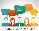 talk . people with clouds ... | Shutterstock .eps vector #182515892