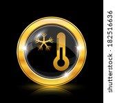 golden shiny icon on black... | Shutterstock .eps vector #182516636