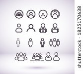 businessman vector icon style... | Shutterstock .eps vector #1825170638