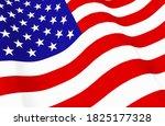 3d rendering. waving united... | Shutterstock . vector #1825177328
