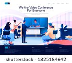 we are video conference for... | Shutterstock .eps vector #1825184642