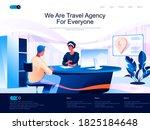 we are travel agency for... | Shutterstock .eps vector #1825184648
