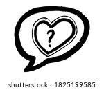 black message bubble with heart ...   Shutterstock .eps vector #1825199585