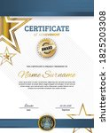 official certificate with blue... | Shutterstock .eps vector #1825203308