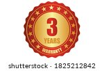 3 years warranty stamp icon or... | Shutterstock .eps vector #1825212842