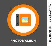 photos album icon. flat...   Shutterstock .eps vector #1825219442