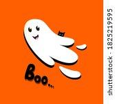 halloween bright greeting card...   Shutterstock .eps vector #1825219595