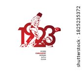1923. 29 ekim cumhuriyet...   Shutterstock .eps vector #1825235372
