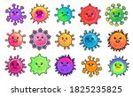 set of character shaped cell of ...   Shutterstock .eps vector #1825235825
