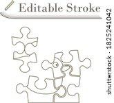 baby puzzle icon. editable...