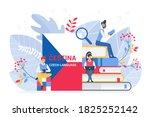 online language courses flat... | Shutterstock .eps vector #1825252142