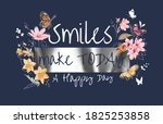 smile slogan with colorful... | Shutterstock .eps vector #1825253858