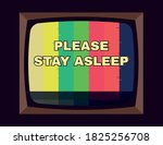 please stand by  stay asleep... | Shutterstock .eps vector #1825256708