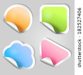 set of vector stickers. | Shutterstock .eps vector #182527406
