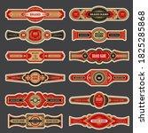 cigar labels. colorful vintage...   Shutterstock .eps vector #1825285868