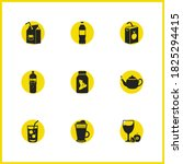 beverages icons set with... | Shutterstock .eps vector #1825294415