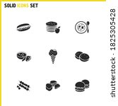 cuisine icons set with south...