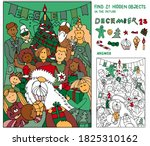 find 21 hidden objects. santa... | Shutterstock .eps vector #1825310162