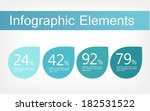 flat infographic elements.... | Shutterstock .eps vector #182531522