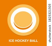ice hockey ball icon   simple ...