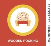 wooden rocking chair icon  ...