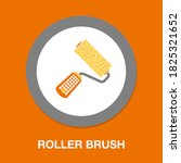 roller brush icon   simple ...