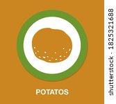 potatos icon   simple  vector ...