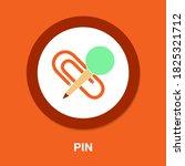 pin icon   simple  vector  icon ...