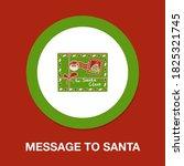 message to santa icon   simple  ...