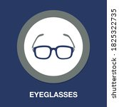 eyeglasses icon   simple ...