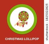 christmas lollipop icon  ...