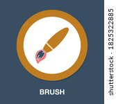 brush icon   simple  vector ...