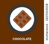 chocolate icon   simple  vector ...