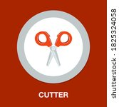 cutting icon   simple  vector ...