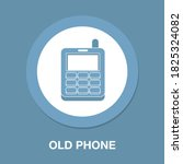 old phone flat icon   simple ...