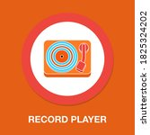 record player flat icon  ...