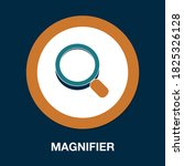 magnifier flat icon   simple ...