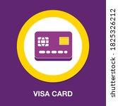 visa card flat icon   simple ...