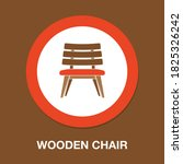 wooden chair flat icon   simple ...