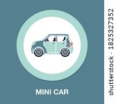 mini car flat icon   simple ...