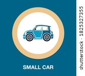 small car flat icon   simple ...