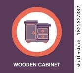 vintage wooden cabinet drawer...