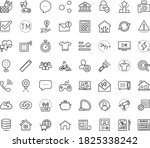 thin outline vector icon set... | Shutterstock .eps vector #1825338242