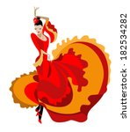 haired flamenco dancer in a... | Shutterstock .eps vector #182534282