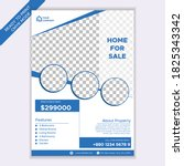 home for sale real estate flyer ... | Shutterstock .eps vector #1825343342