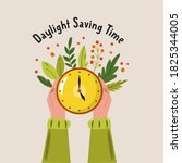 daylight saving time. abstract...   Shutterstock .eps vector #1825344005